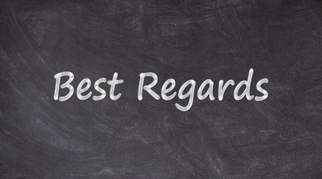 best regard là gì 1